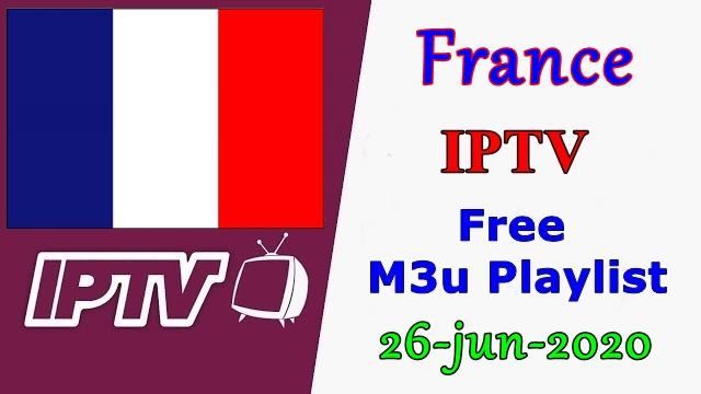 France IPTV Free VLC Player m3u Playlists 26-Jun-2020