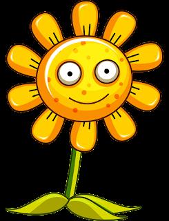 gambar bunga kartun matahari