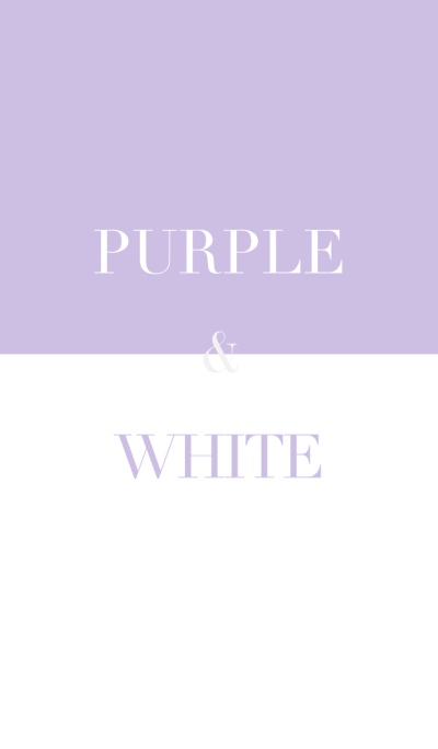 purple & white