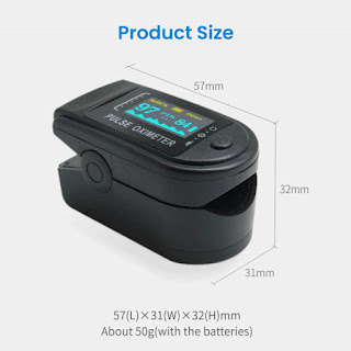 Pulse Oximeter, Fingertip Oxygen Saturation Monitor,