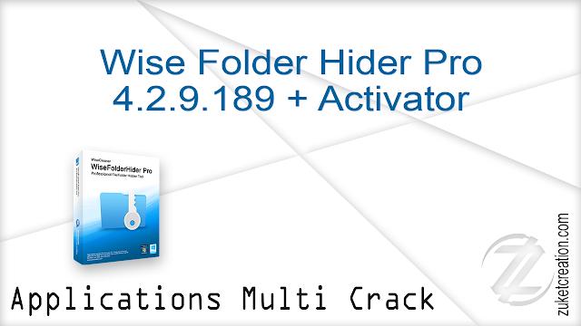 Wise Folder Hider Pro 4.2.9.189 + Activator