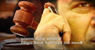 Judge Gihan Pilapitiya interdicted .. because of telephone conversations