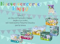Logo Happy Pannolini Italia : vinci gratis Box Pannolini Happy + Peluche Doudou Happy