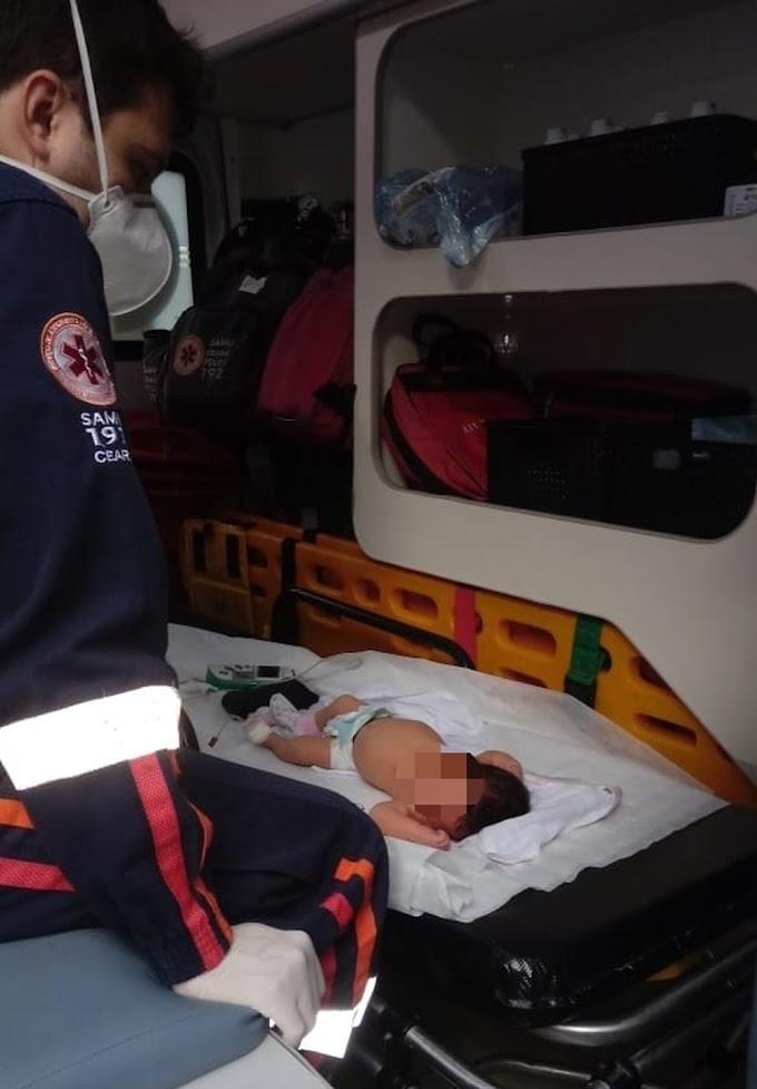 Recém-nascida de 18 dias é salva por policiais após se engasgar com saliva na Grande Fortaleza