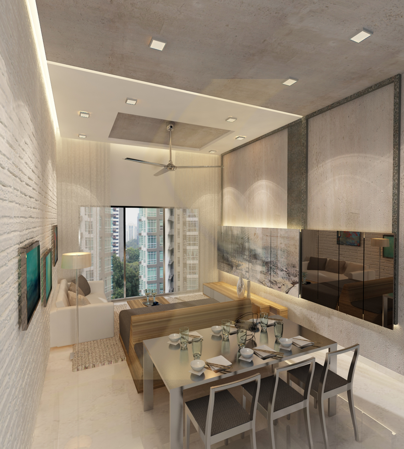 Modern Apartment Interior Design: Condominium Ceiling Designs