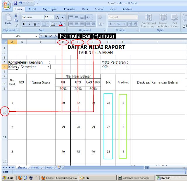 Cara Membuat Nilai Raport dengan Excel