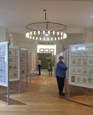 exposición, filatelia, Gijón, Escuela de Comercio