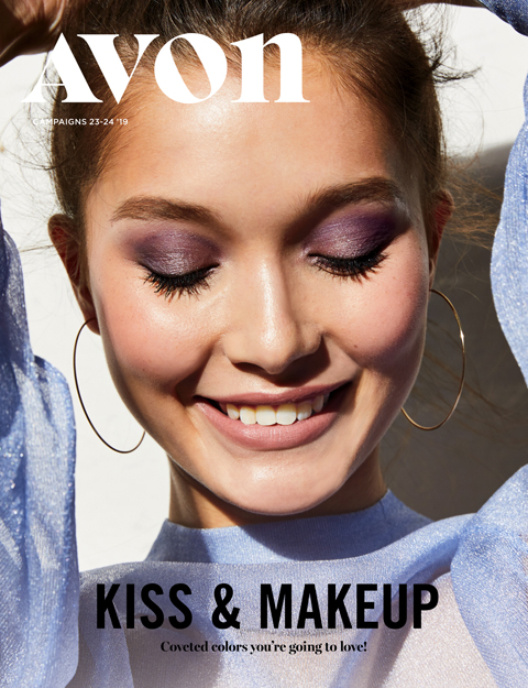 avon catalog 23-24 kiss and makeup sale flyer