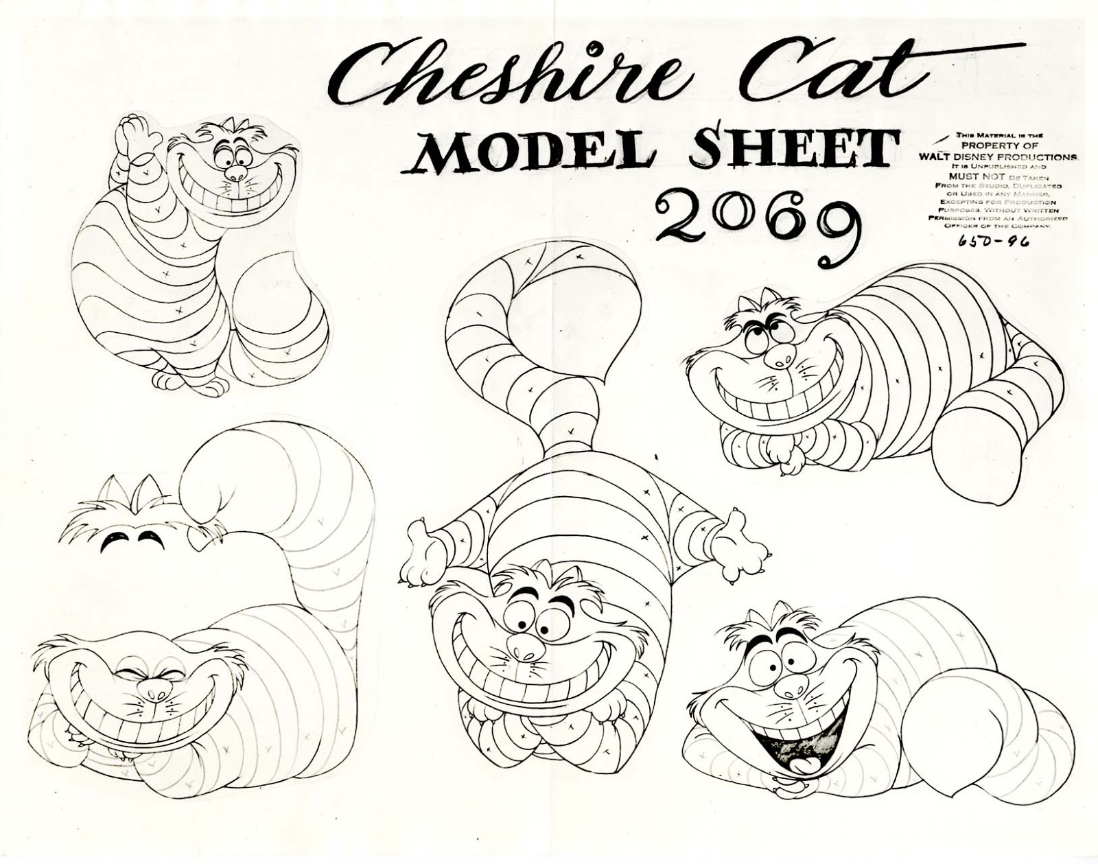 Character Design From The Ground Up Download : Vintage disney alice in wonderland animation model sheet