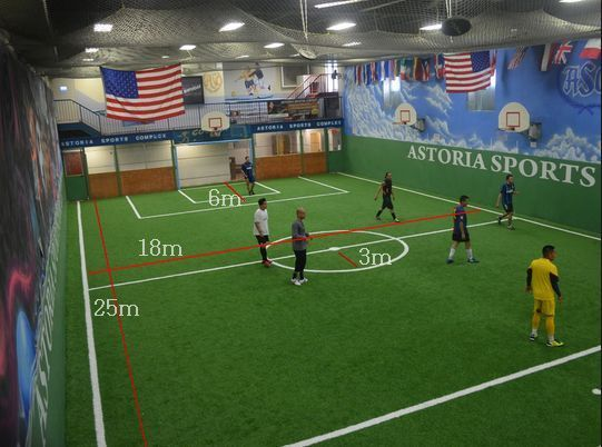 Ukuran Lapangan Futsal Nasional dan Internasional