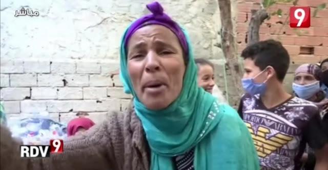 """تونس - بالفيديو ... والدة الفقيدة فرح :"""" بنتي ماتت شبعانة بماء الڨمة ... حسبي الله ونعم الوكيل في رئيس البلدية"""""""