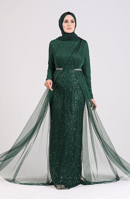 Emerald Tulle Dress