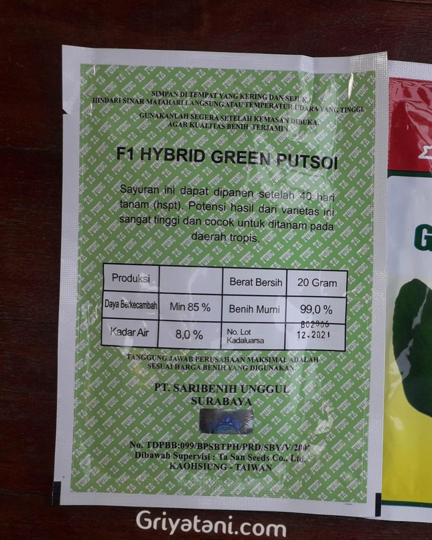 pakcoy Green Putsoi