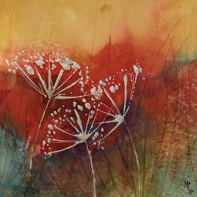 February guest artist demo - watercolor textures