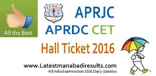 APRJC Hall Ticket 2016, APRDC Hall Ticket 2016,APRJC CET 2016 Hall Ticket Download,APRDC CET Hall Ticket 2016