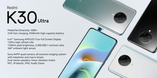 Xiaomi has officially announced the Redmi K30 Ultra