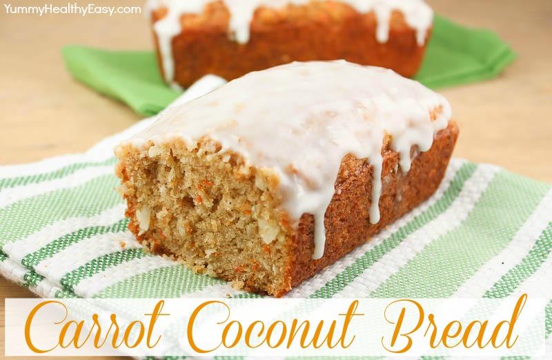 Coconut Flour Carrot Cake Bread