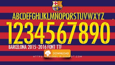 Barcelona 2015-2016 Font TTF