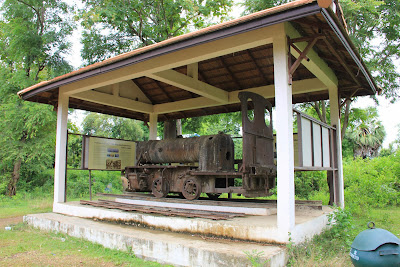 French locomotive on the island Don Khon (Si Phan Don, Laos)