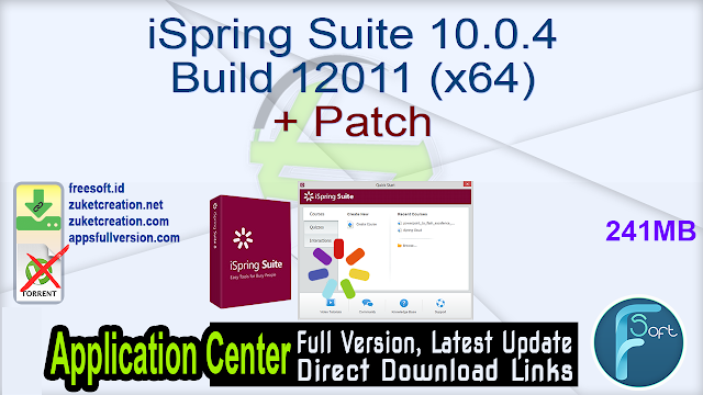 iSpring Suite 10.0.4 Build 12011 (x64) + Patch