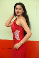 Actress Zahida Sam Latest Stills in Red Long Dress at Badragiri Movie Opening .COM 0045.JPG