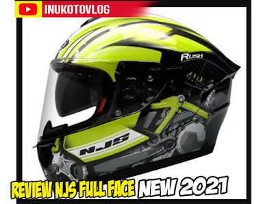 Review Helm Full Face NJS ZX-1 Specter Motif Trebaru