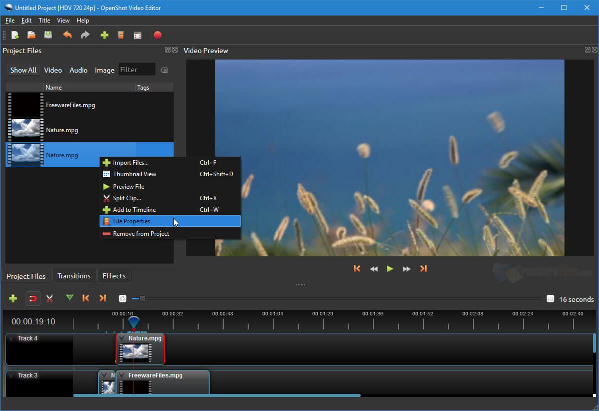 برنامج مونتاج مجاني للكمبيوتر بدون علامة مائية