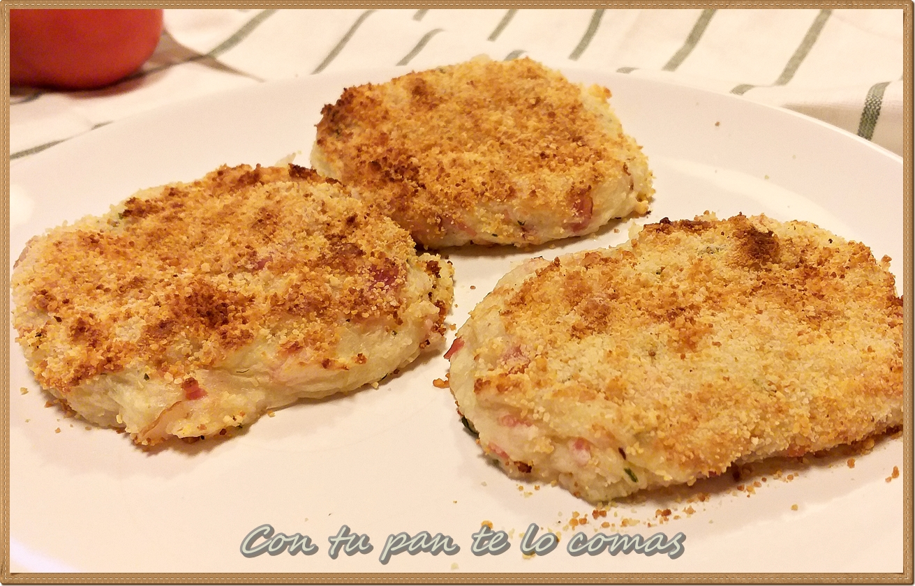 Tortitas de patatas con bacon