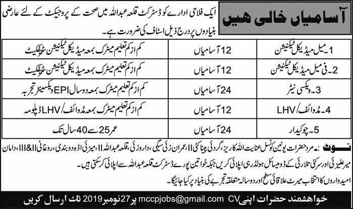 NGO Jobs in Balochistan