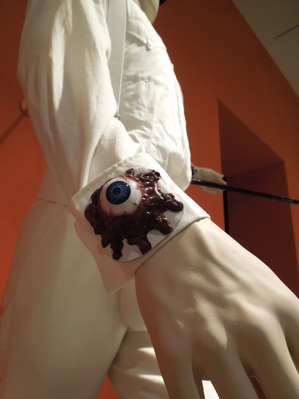 Clockwork Orange Alex DeLarge eyeball cuff costume detail