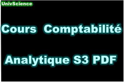 Cours Comptabilité Analytique S3 PDF.