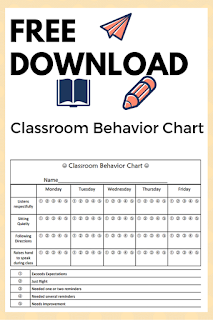 free download classroom behavior chart