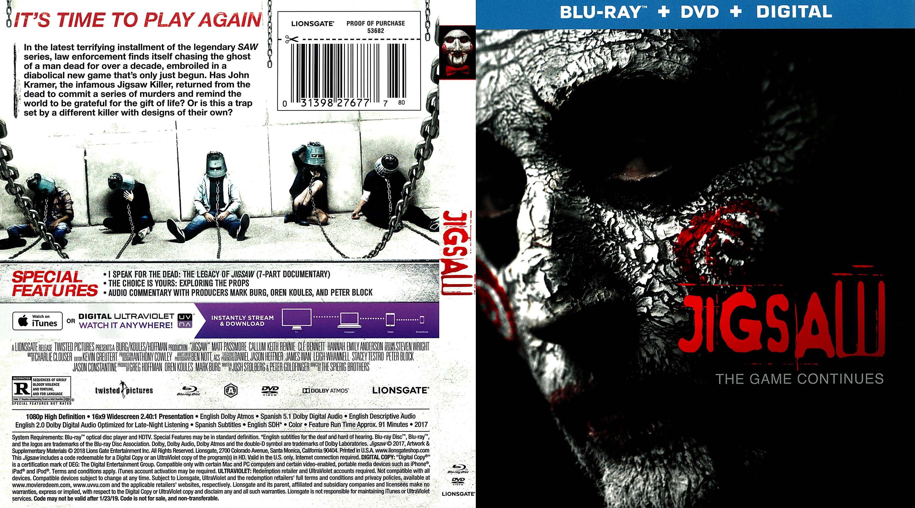 Jigsaw Scan Bluray Cover Cover Addict Free Dvd