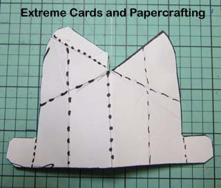cat pop up card back assembly