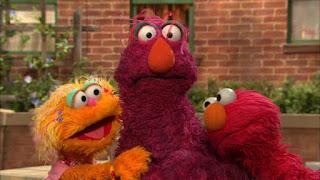 Elmo, Zoe, Telly, Sesame Street Episode 4311 Telly the Tiebreaker season 43