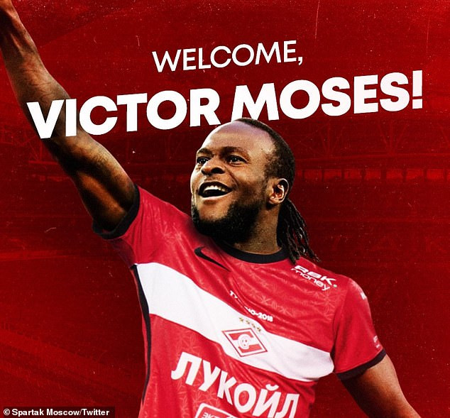CONFIRMED; Victor Moses joins Spartak Moscow on season-long loan from Chelsea
