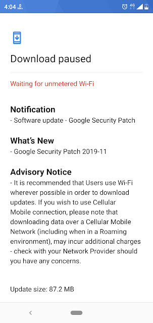 Nokia 5.1 Plus receiving November 2019 Android Security patch