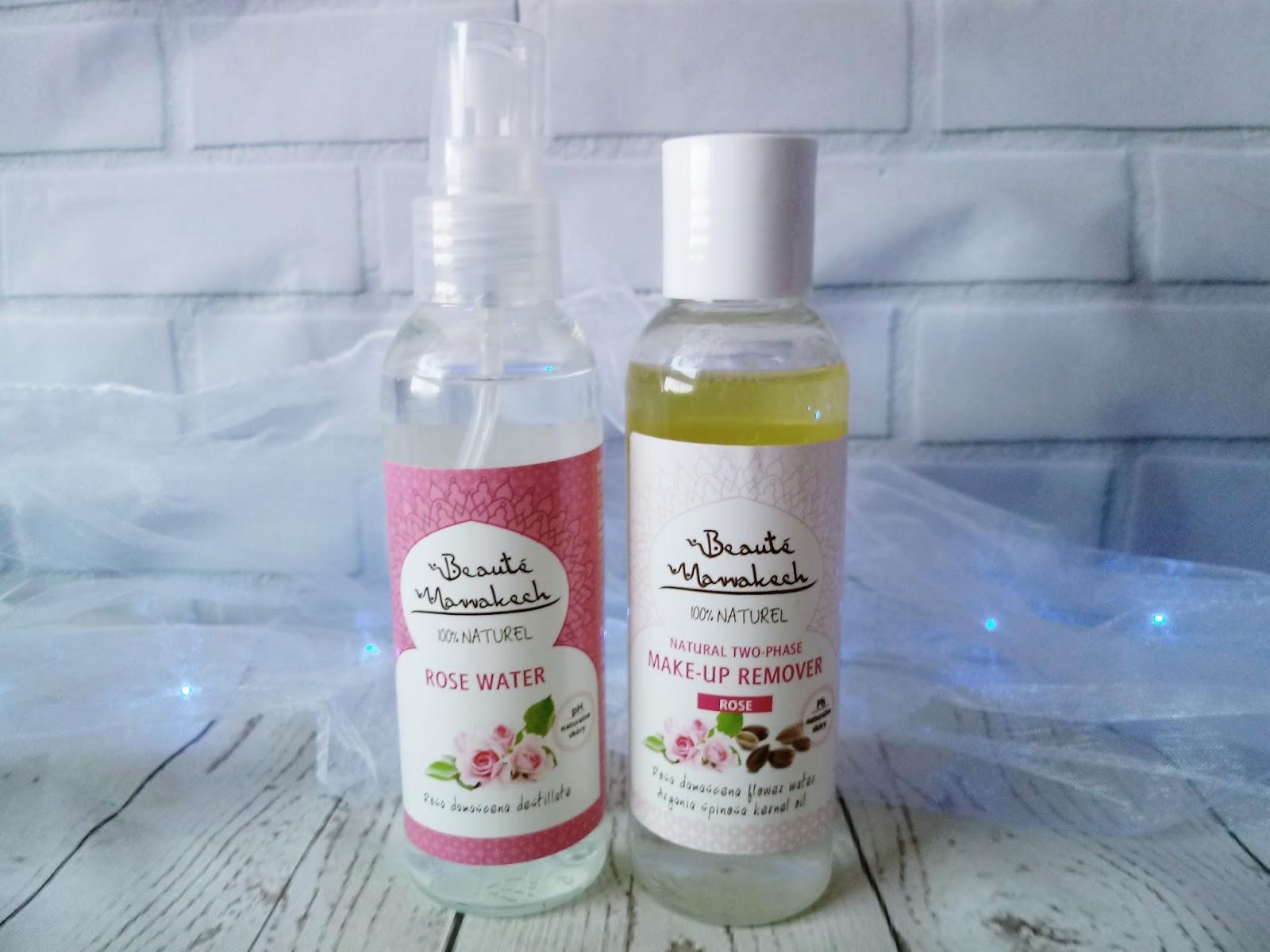 Róża w kosmetyce - Naturalna woda różana + płyn do demakijażu - MAROKO SKLEP