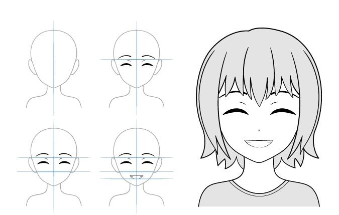 Konten senyum contoh gambar gadis anime