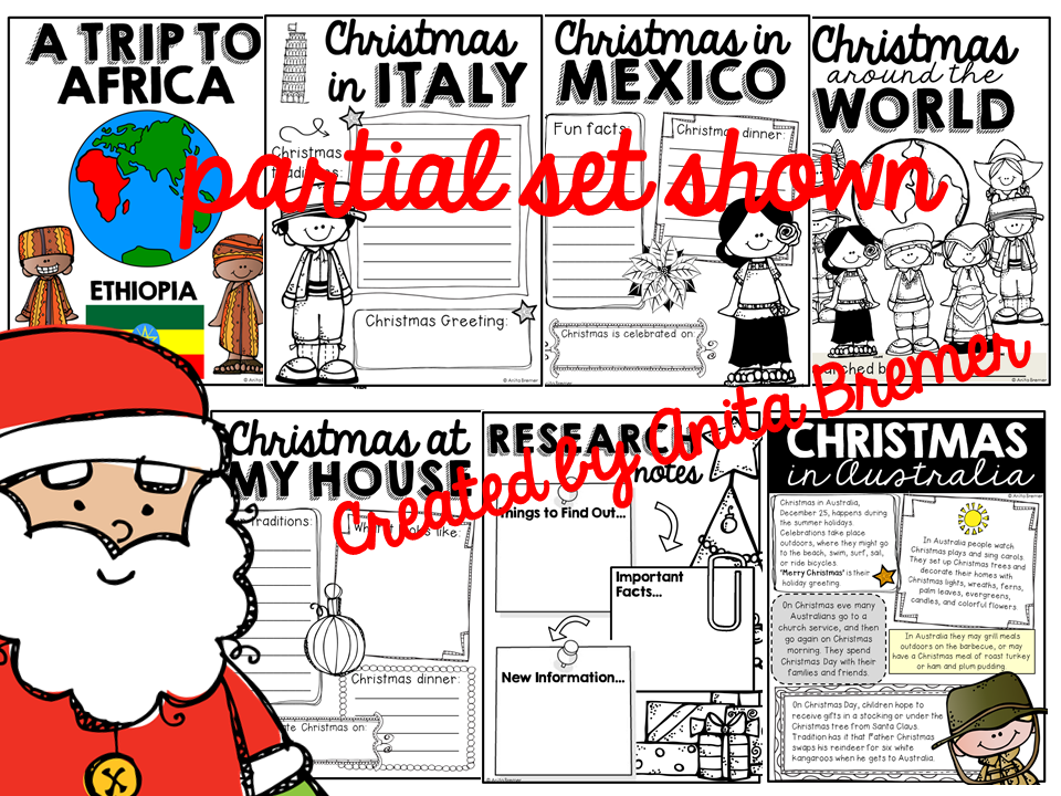 No Prep Christmas Around The World Activity Pack Featuring 10 Countries In Every Inhabited Continent