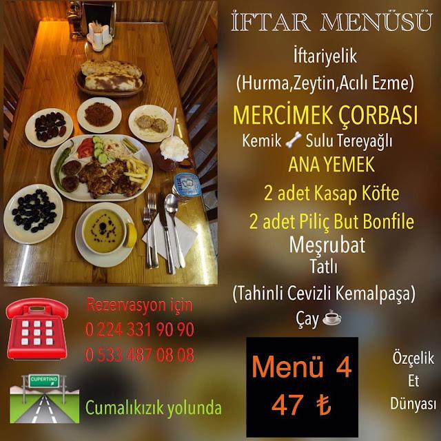 bursa ramazan menüleri bursa iftar mekanları 2019 yıldırım mekanlar