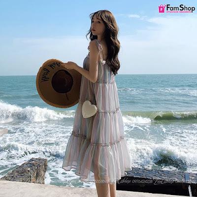 Váy maxi đi biển V418