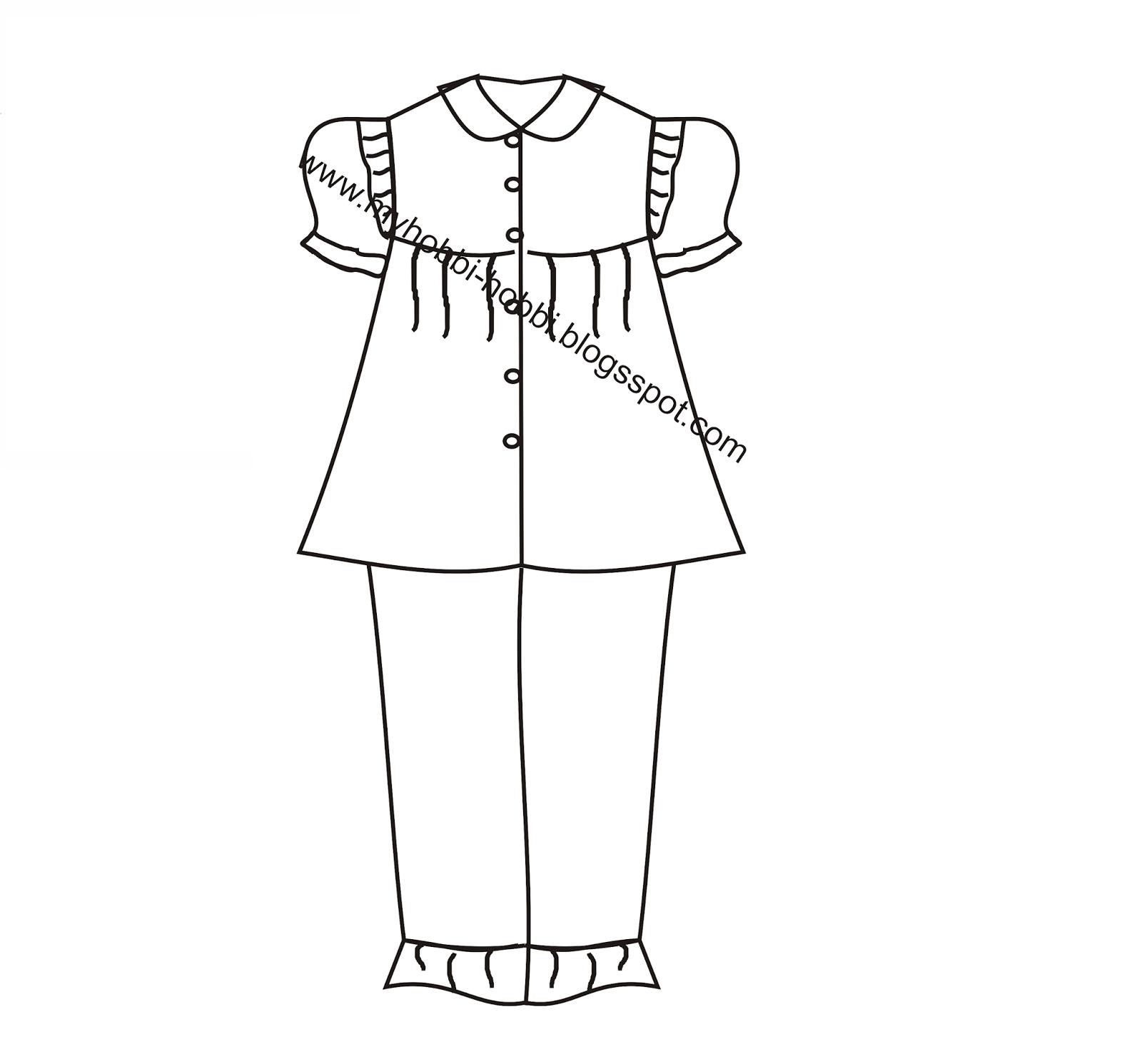 Mewarnai Gambar Baju Anak Laki Laki Zona Ilmu 5
