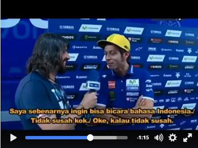 Diwawancara Mateo, Rossi Pengen Ngomong Bahasa Indonesia