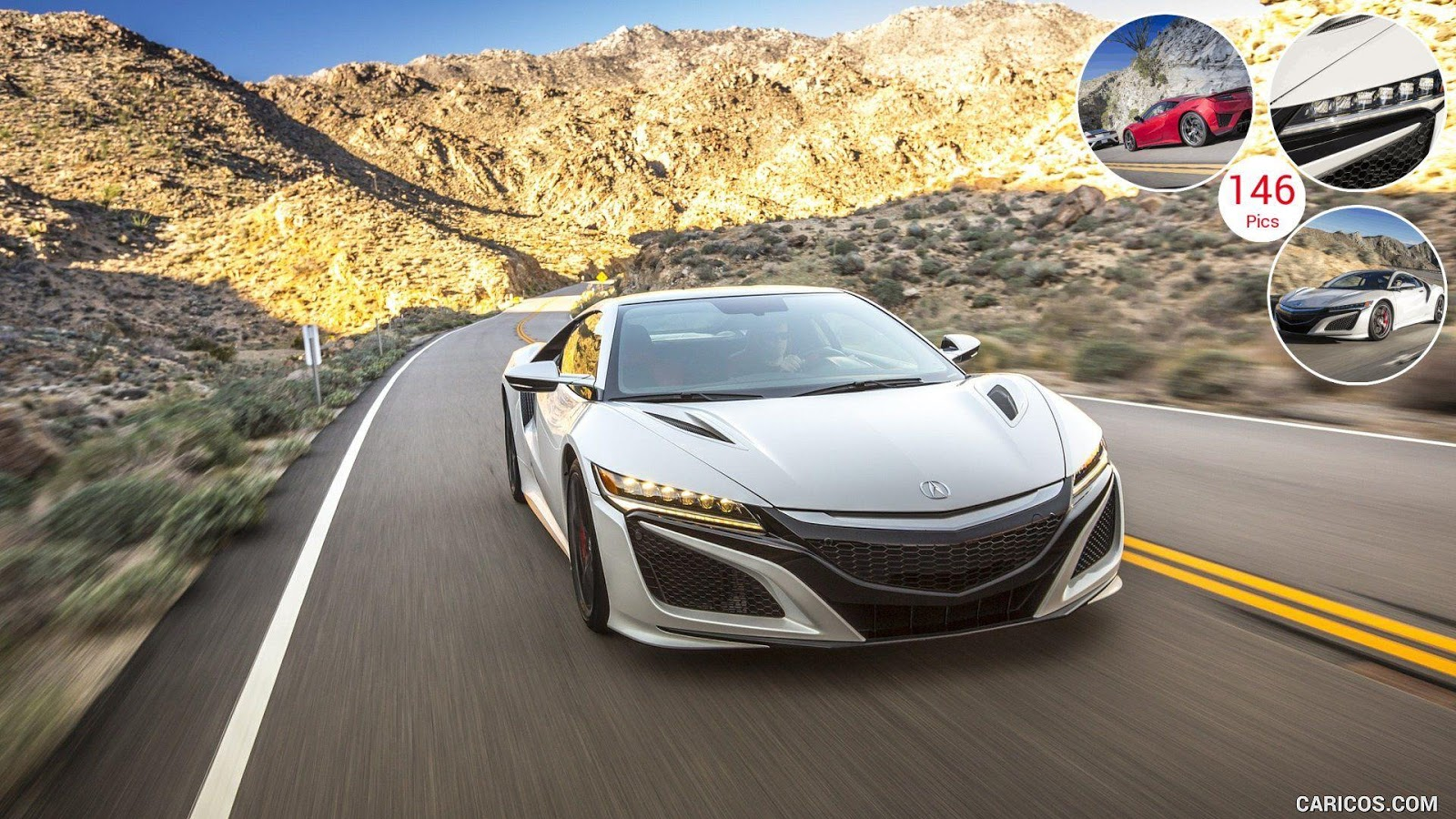 2017 Acura NSX White cars