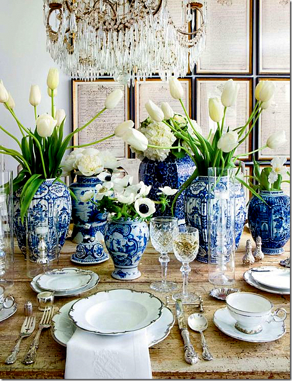 Aerin Lauder Whose Homes Are Known To Be Extensively Decorated With Blue And White China