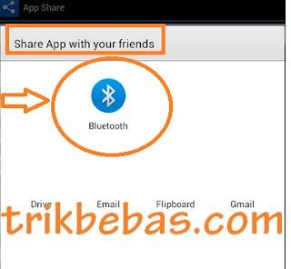 share aplikasi dengan bluetooth