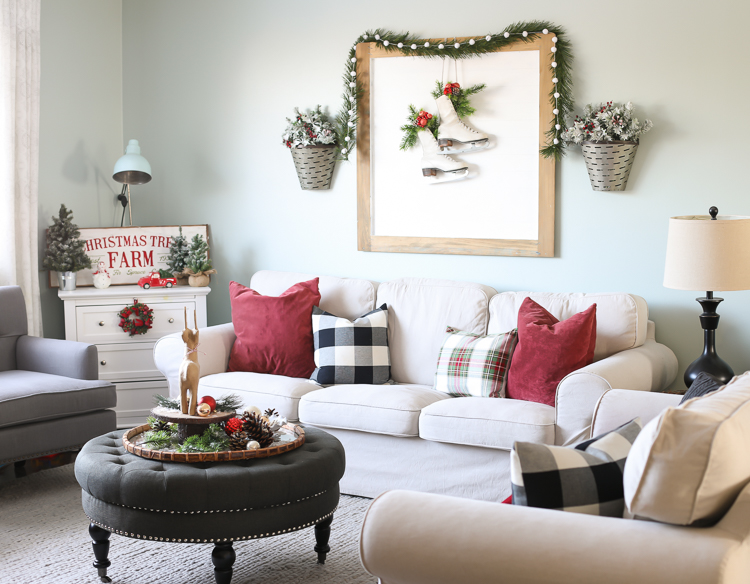Decorating the living room for Christmas