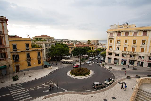Vista su Piazza della Costituzione dal Bastione Saint Remy-Cagliari