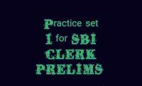 Error detection, fillers, phrase replacement, Para jumbles for SBI CLERK PRELIMS